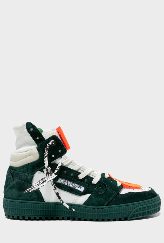 Off-Court 3.0 Panelled Sneakers White / Pine Green