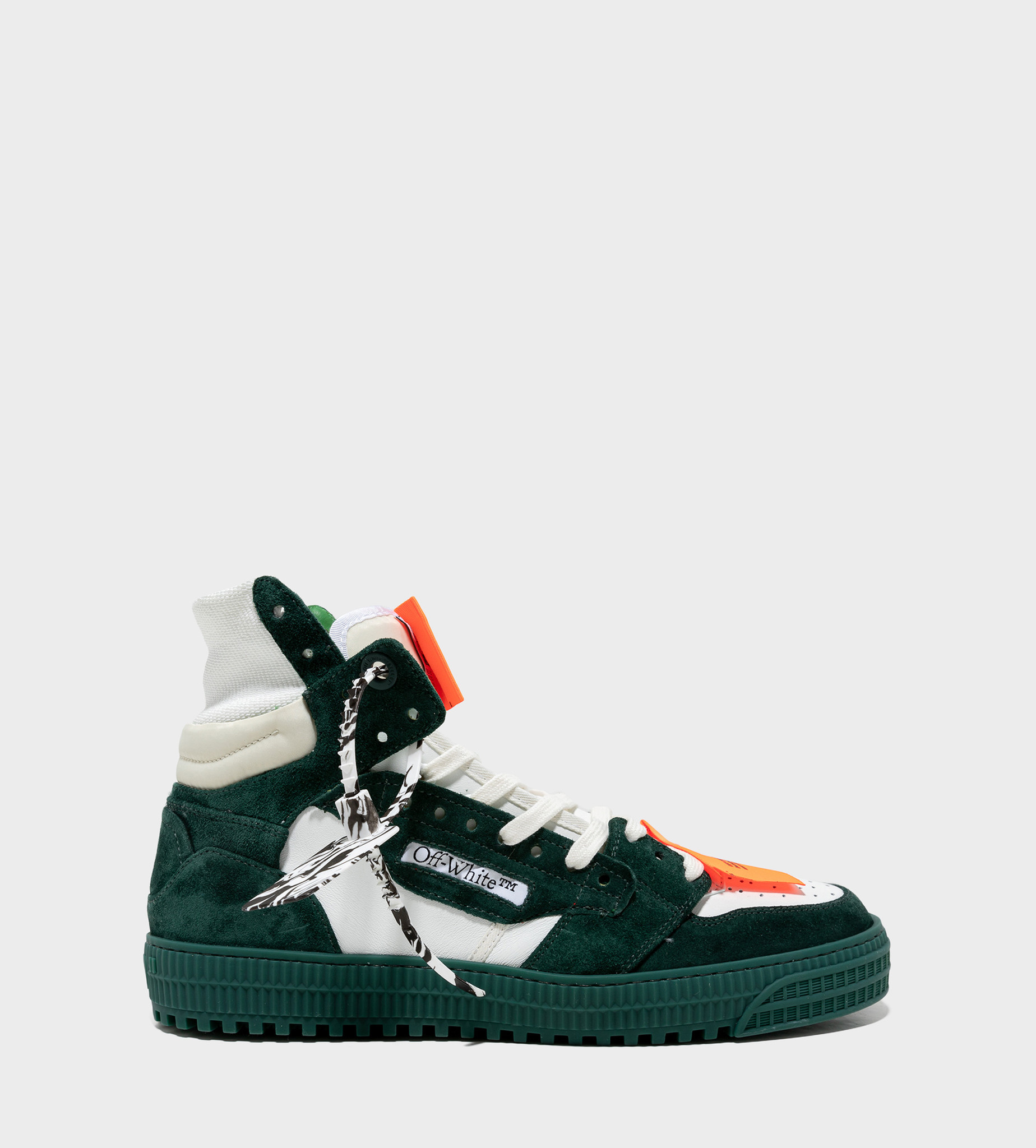 OFF-WHITE Off-Court 3.0 Panelled Sneakers White / Pine Green