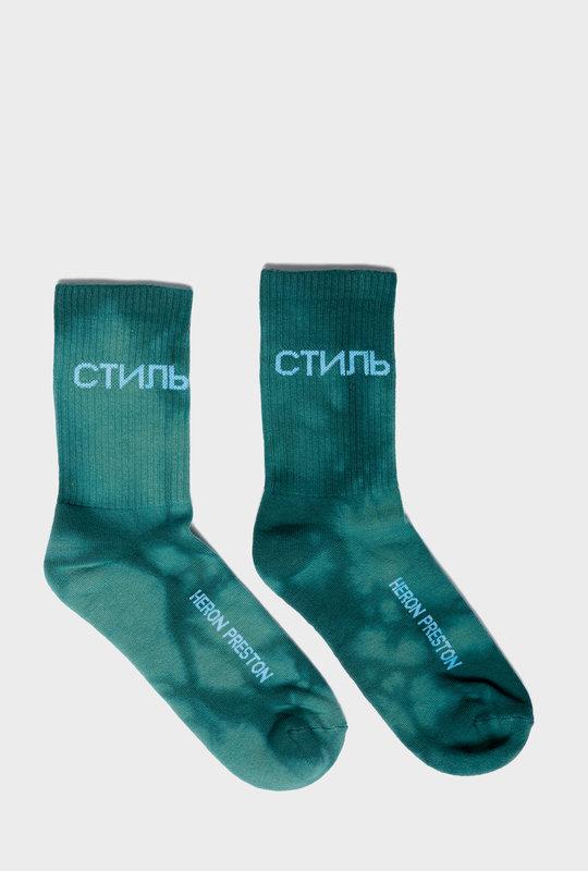 Logo-Intarsia Socks Green