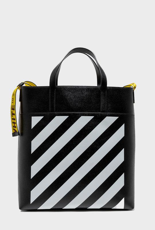 Logo - Tape Detail Tote Bag Black