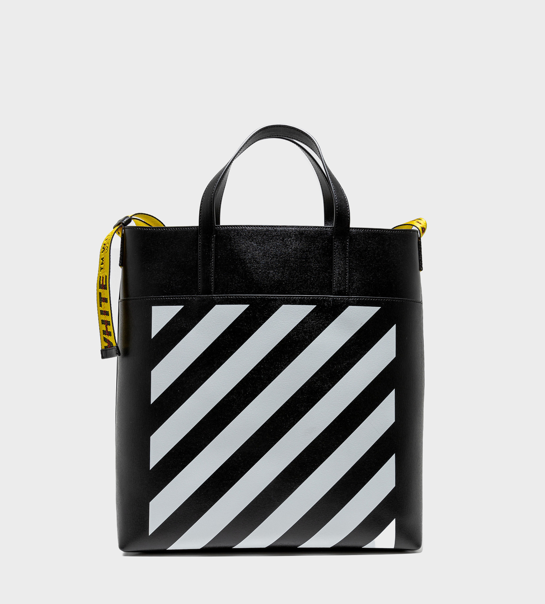 OFF-WHITE Logo - Tape Detail Tote Bag Black