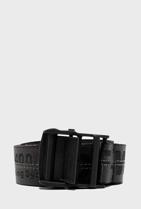 Jacquard Logo Industrial Belt Black