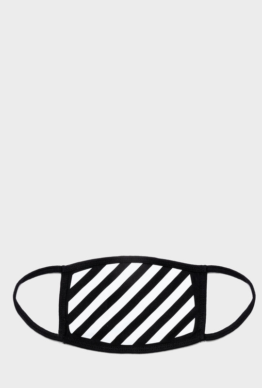 Diag Face Mask Black/white