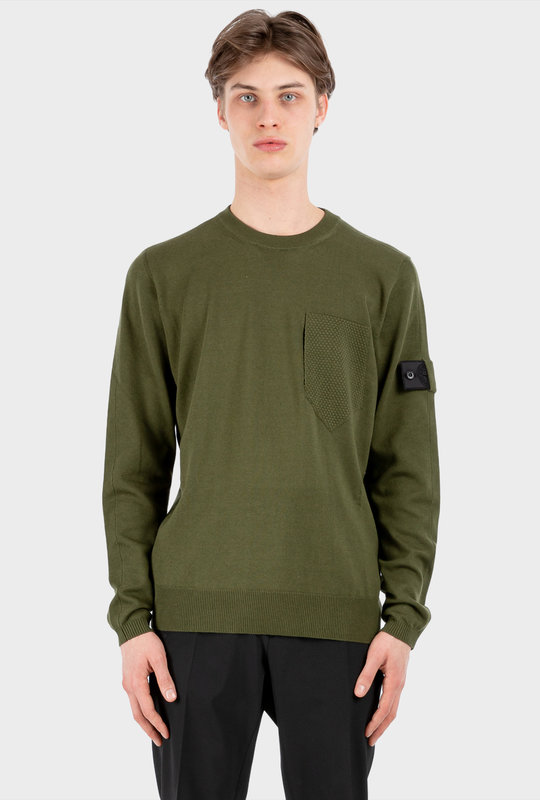 Stone Island Shadow Project Crewneck Olive Green