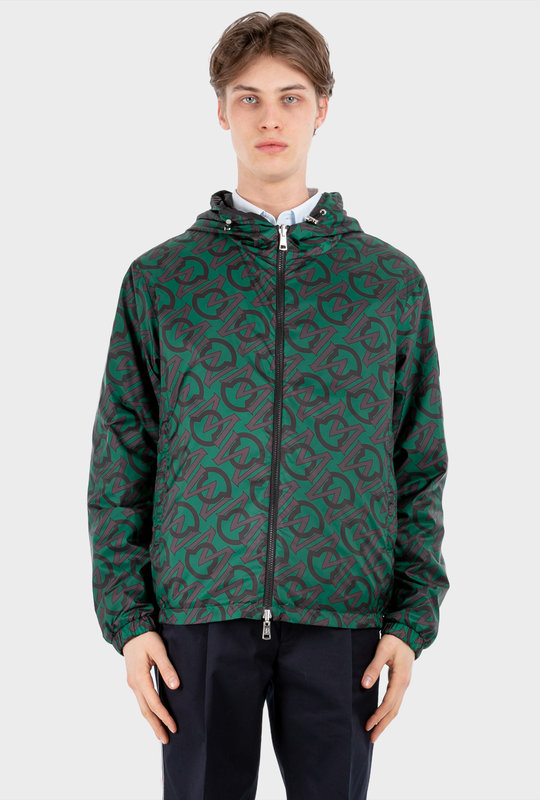 Cretes Reversible Jacket With Logo Green