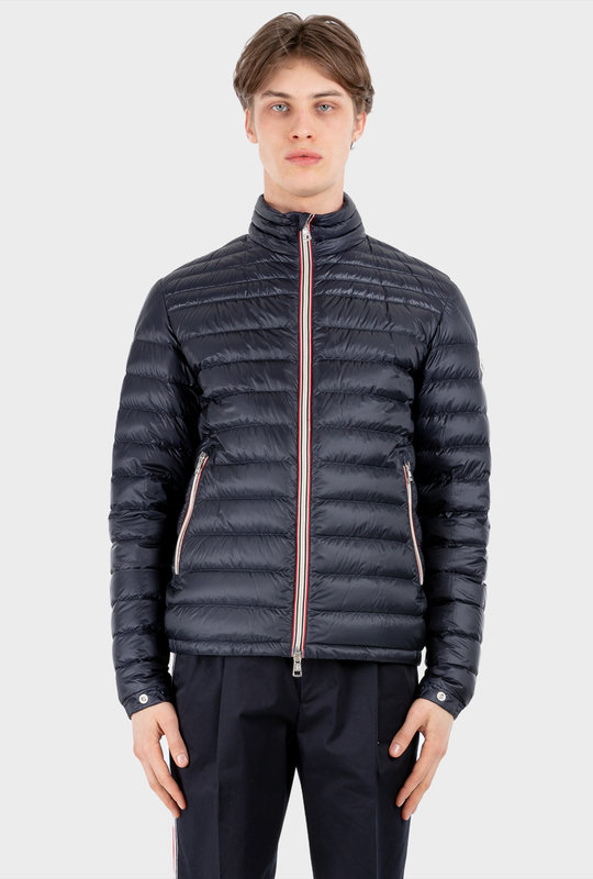 Padded Zip-Front Jacket Blue