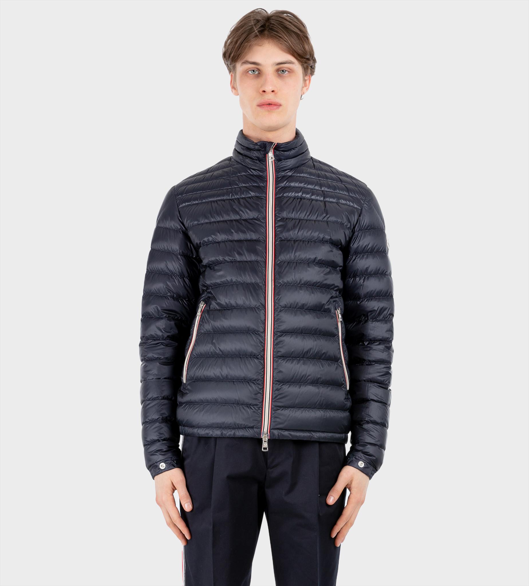 MONCLER Padded Zip-Front Jacket Blue
