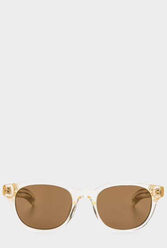 Logic Sunglasses Crystal Yellow / Solid Dark Brown