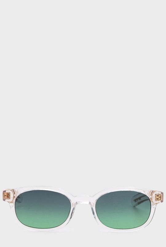 Le Bucheron Sunglasses  Clear Crystal / Blue Green Gradient