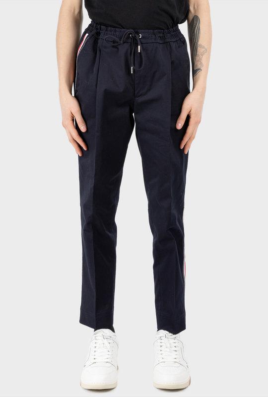 Logo Stripe Pantalone Trousers Blue