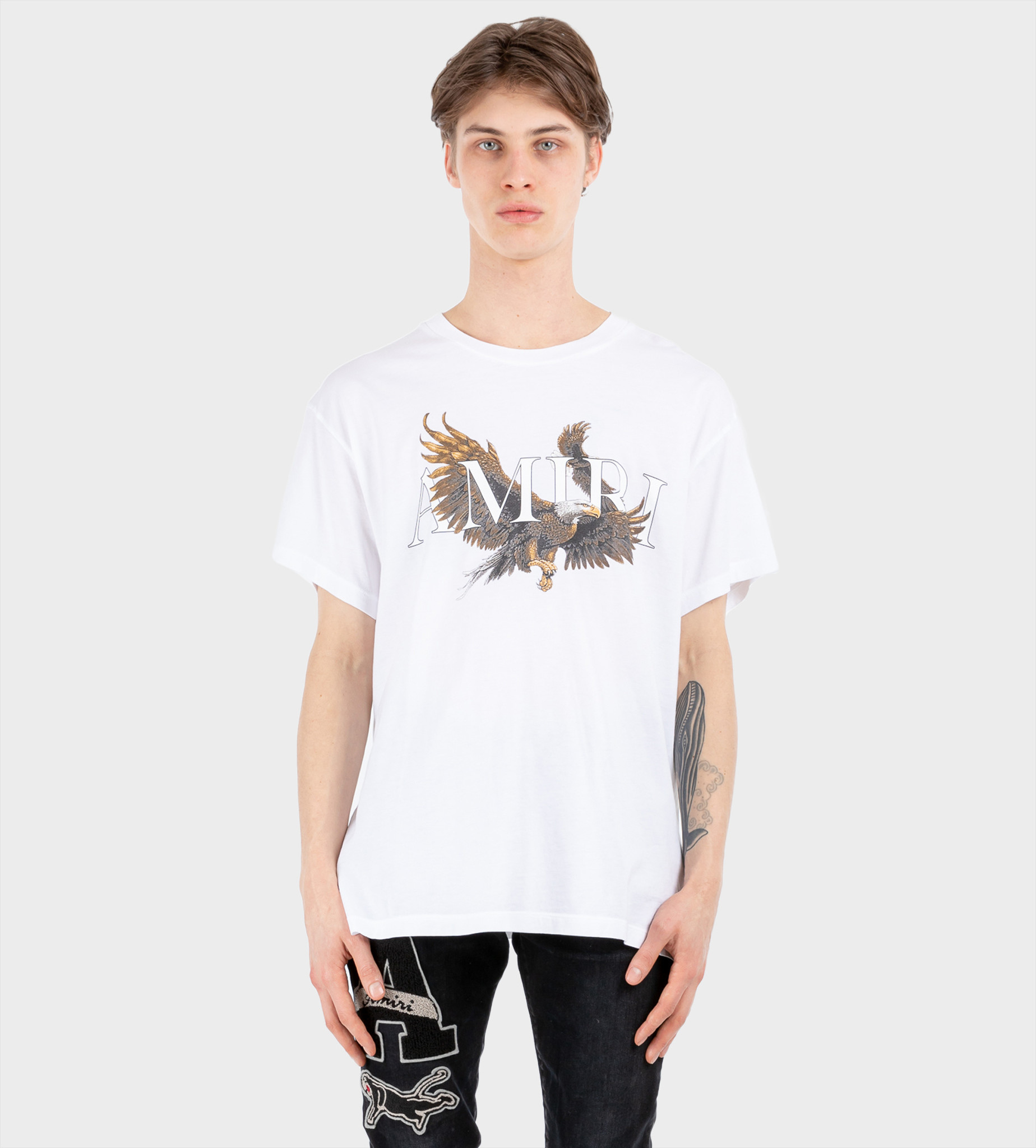 AMIRI Eagle Tee White