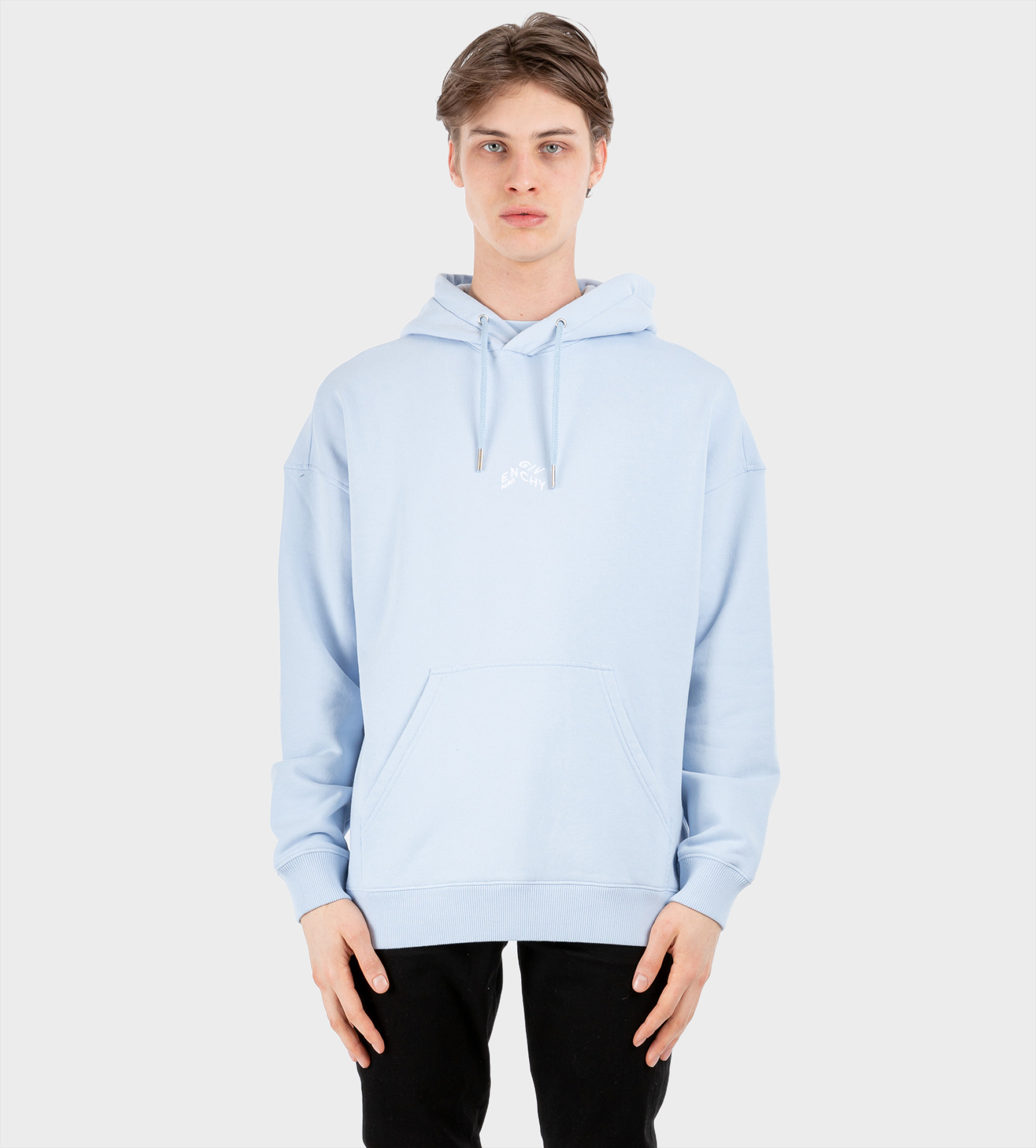 GIVENCHY Refracted Embroidered Hoodie Light Blue