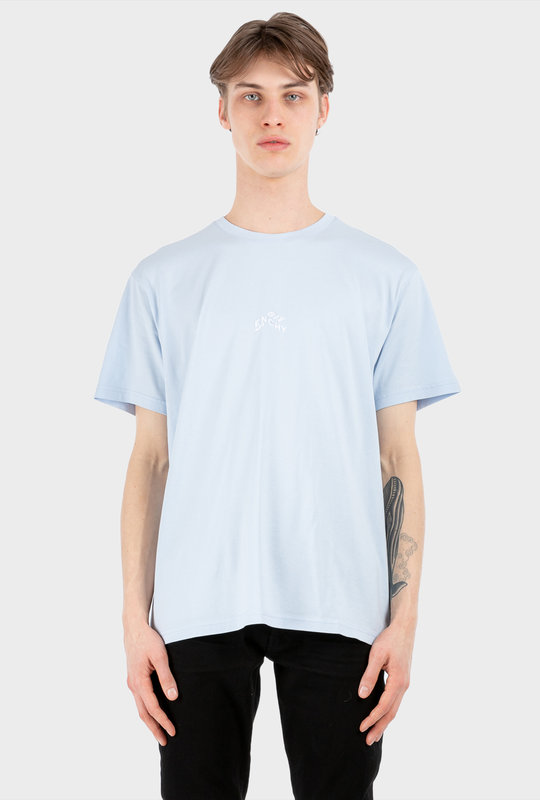 Refracted Embroidered T-shirt Light Blue