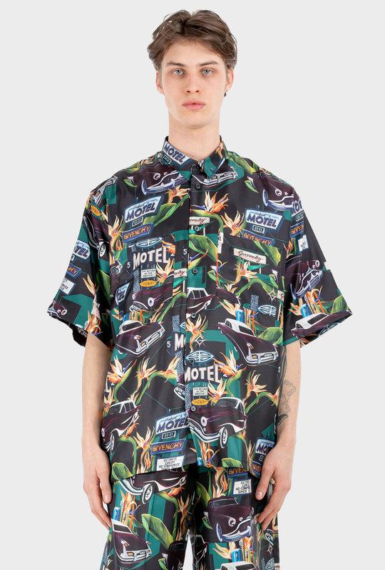 Motel Shirt in Silk Black