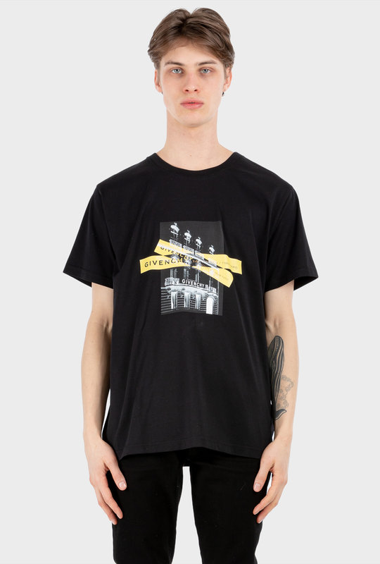 Contrasted T-shirt Black