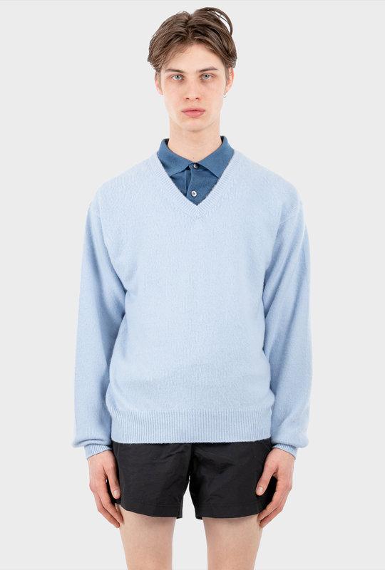V-Neck Knitwear Blue
