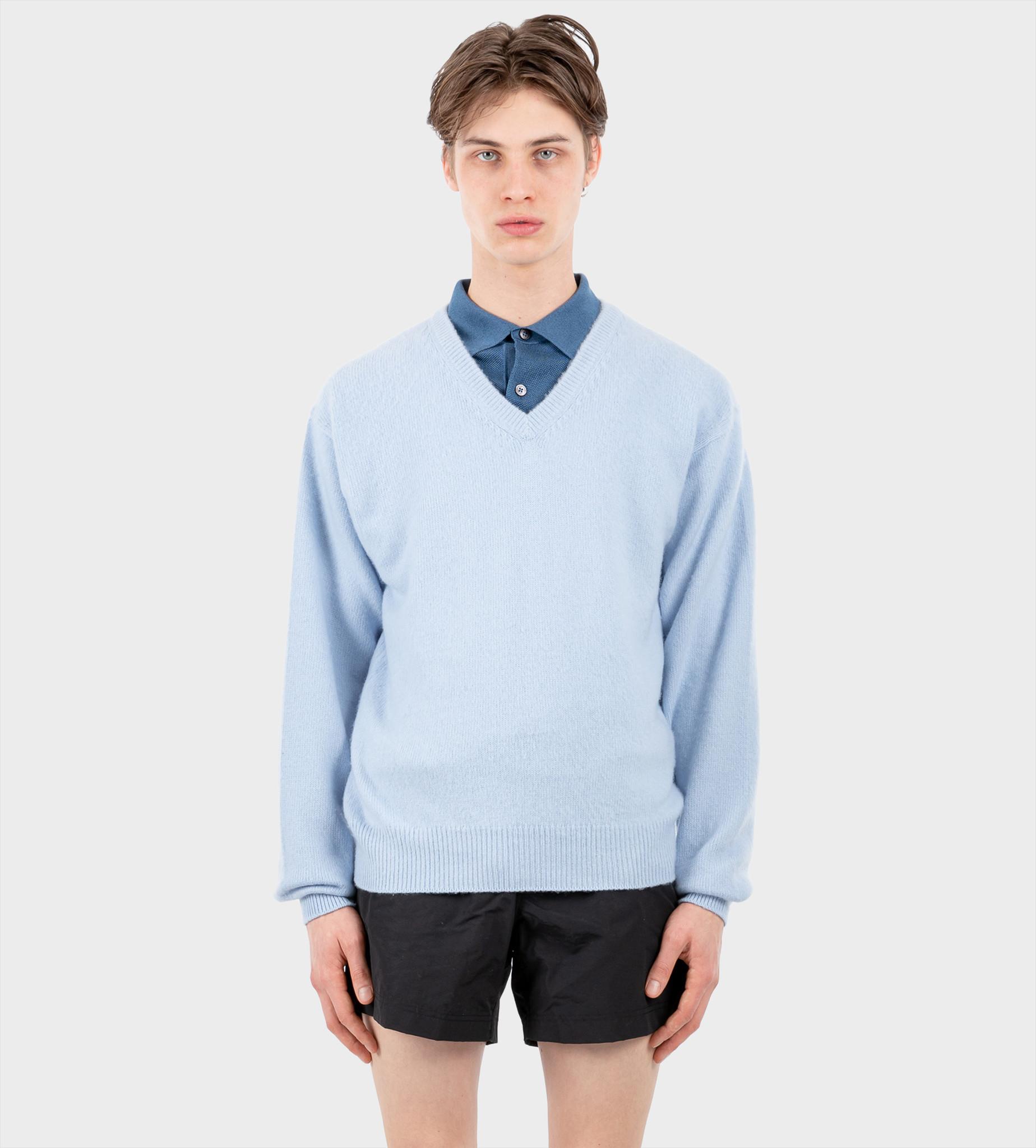 TOM FORD V-Neck Knitwear Blue