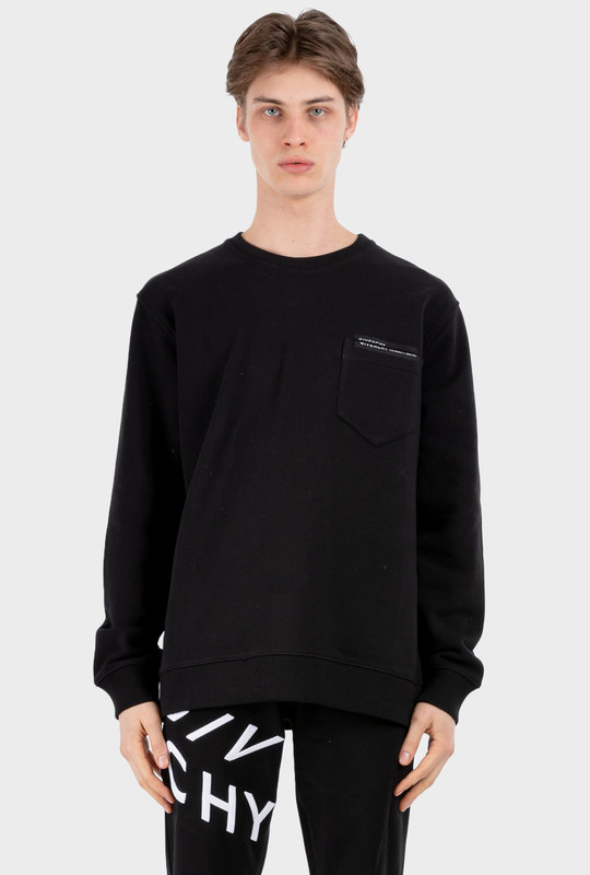 Logo Patch Pocket Sweatshirt Black
