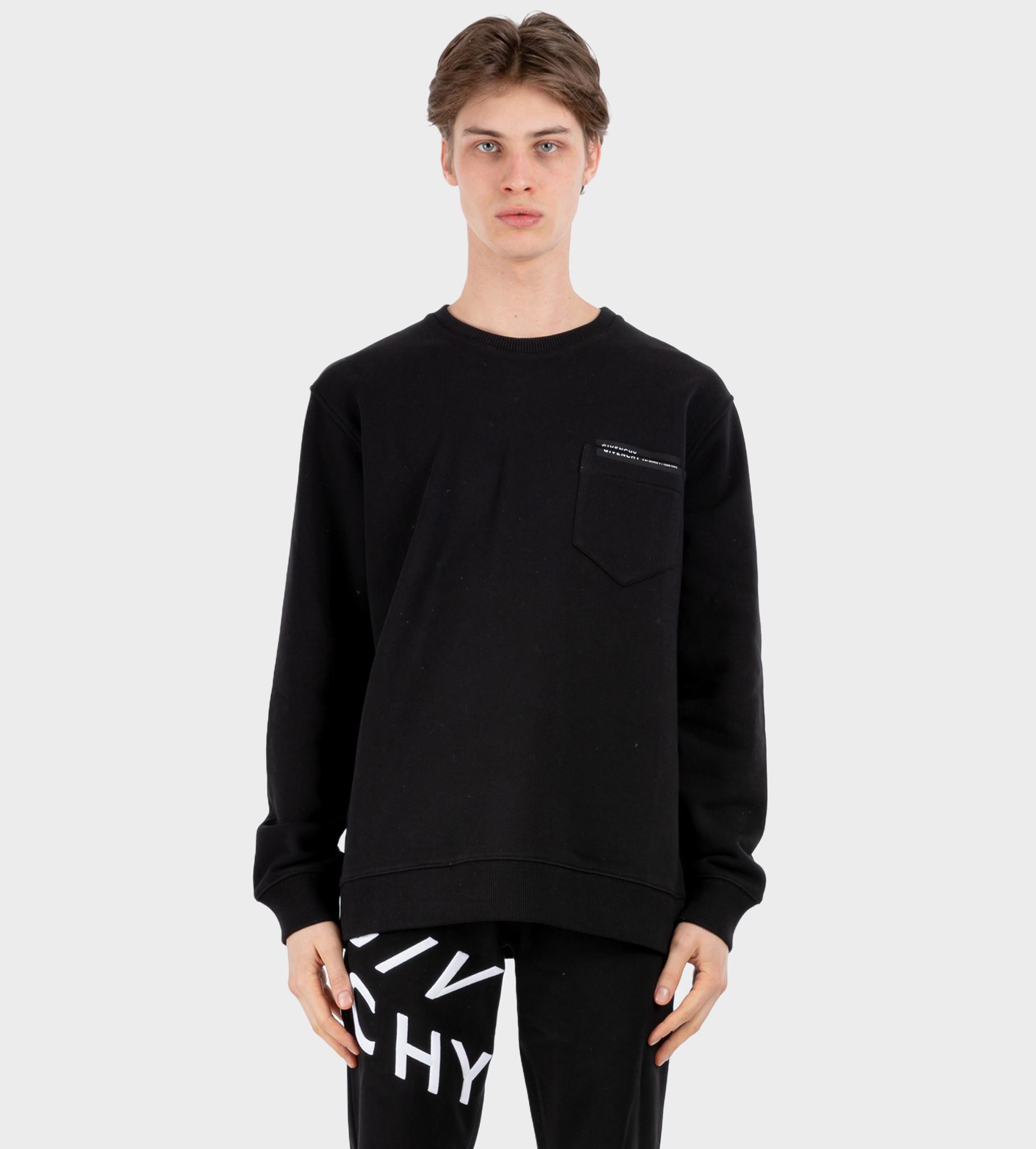 GIVENCHY Logo Patch Pocket Sweatshirt Black