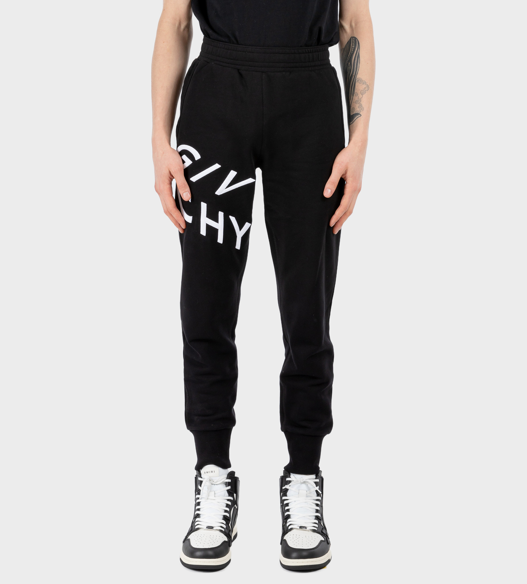 GIVENCHY Embroidered Logo Sweatpants Black