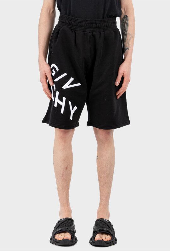 Logo-Print Shorts Black