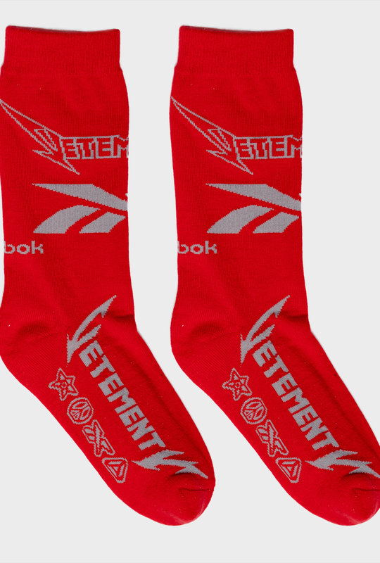 Vetements x Reebok Metal Logo Socks Red