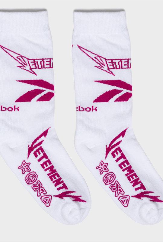 Vetements x Reebok Metal Logo Socks  White