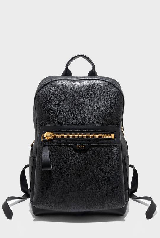 Calfs Leather Backpack Black