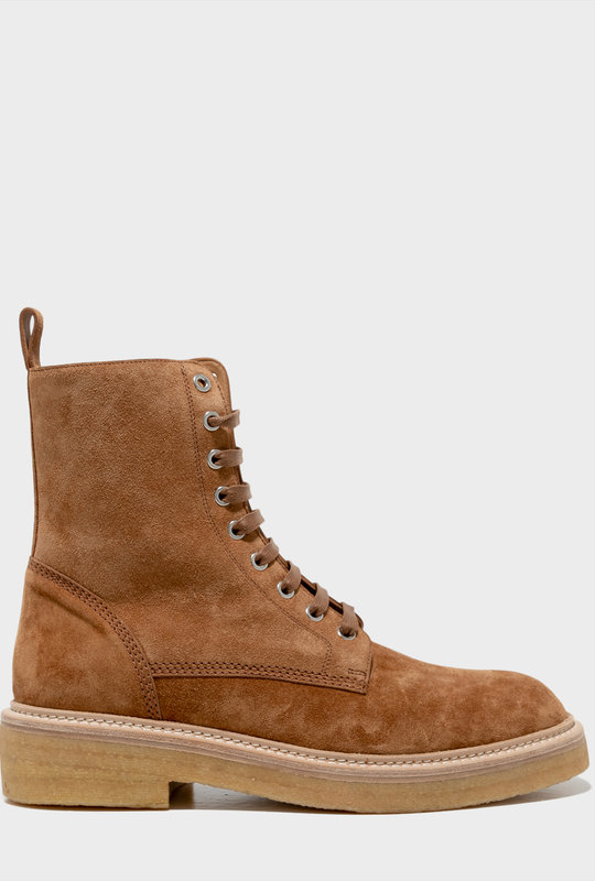 Combat Crepe Sole Boot Brown