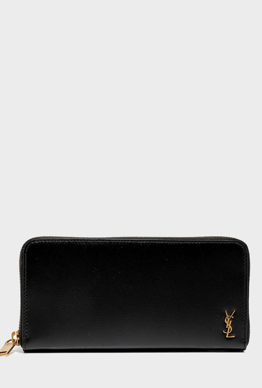 Zip-Around Wallet In Smooth Leather