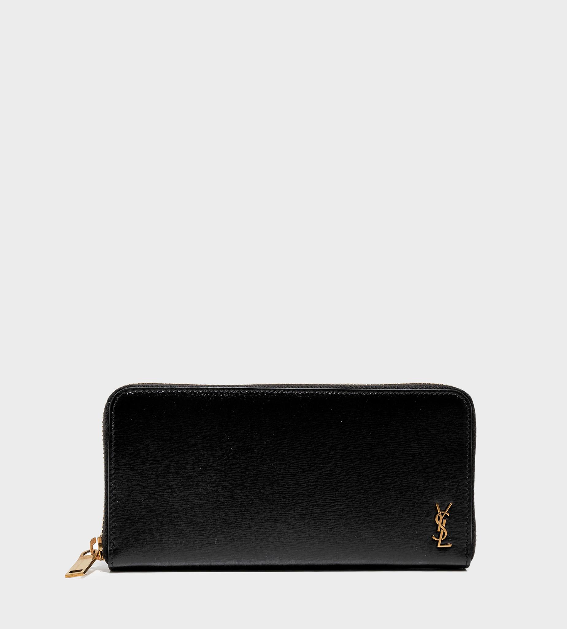 SAINT LAURENT Zip-Around Wallet In Smooth Leather