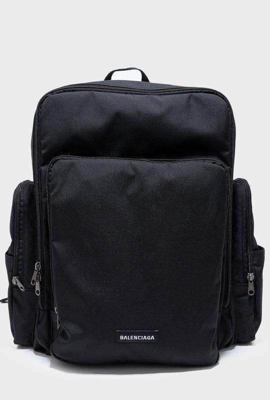 Skate Logo Nylon Backpack Black