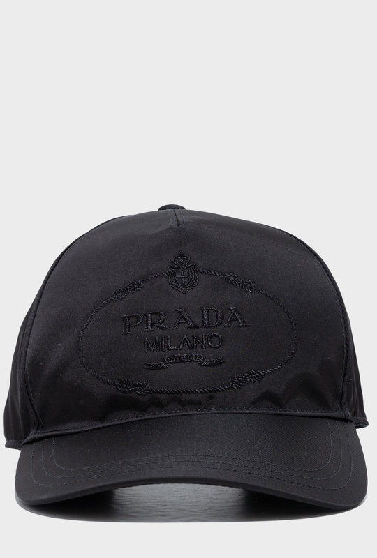 Embroidered Logo Baseball Cap Black