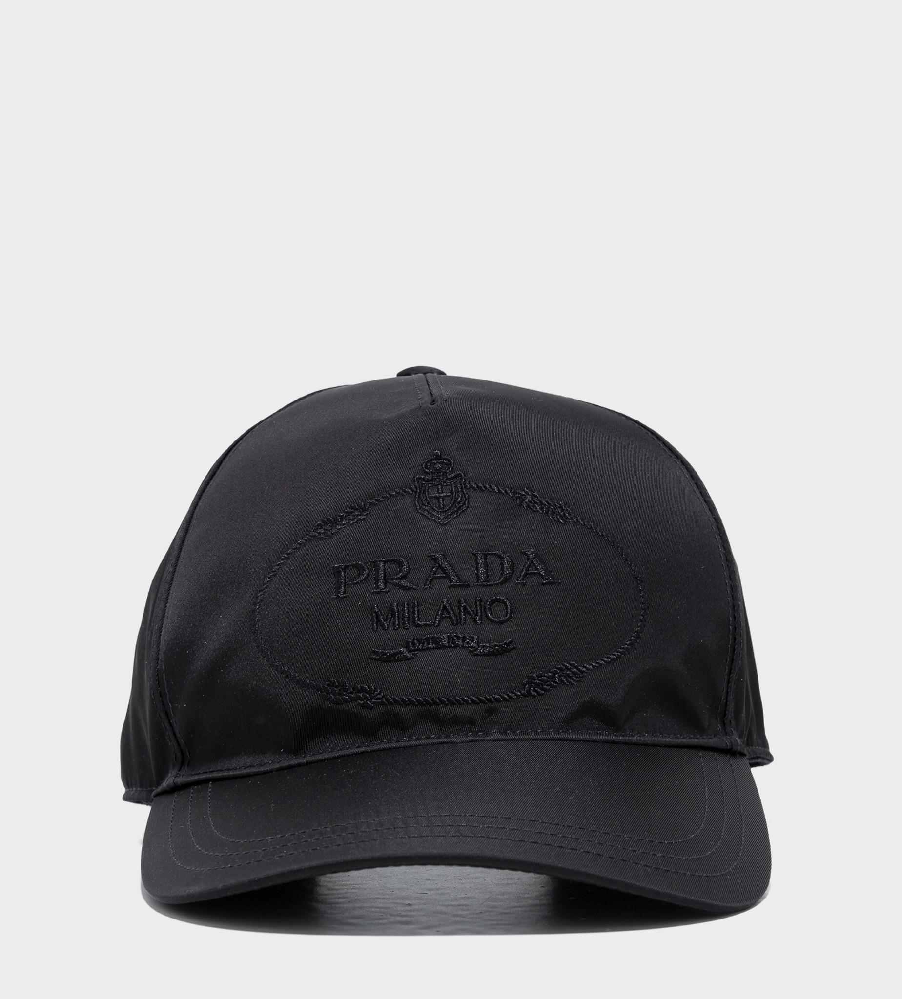 PRADA Embroidered Logo Baseball Cap Black