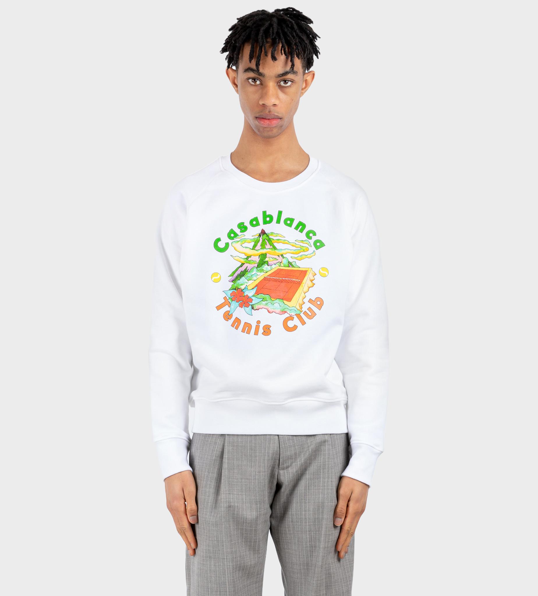 CASABLANCA Tennis Club Island Sweatshirt White