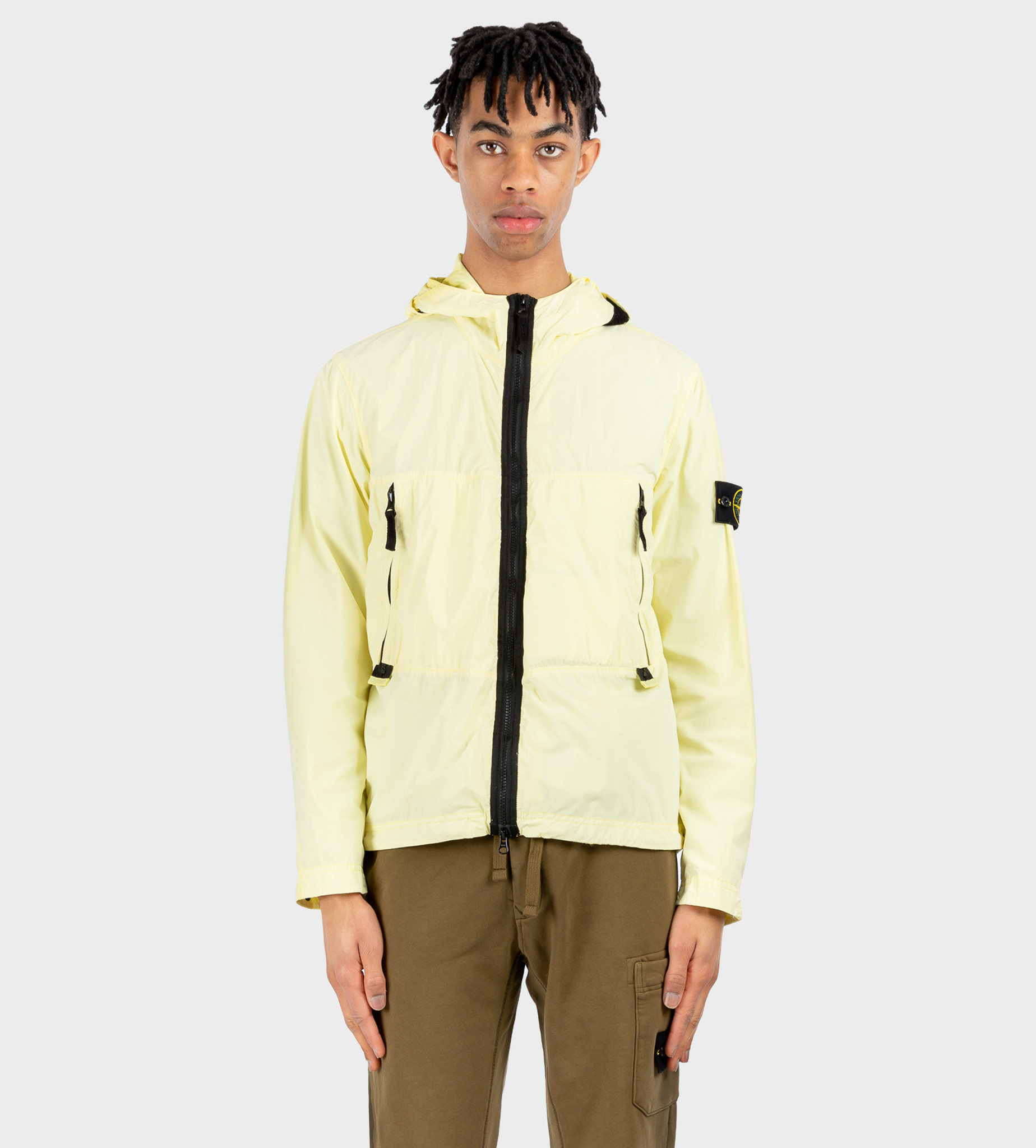 STONE ISLAND Hooded Shell Jacket Yellow