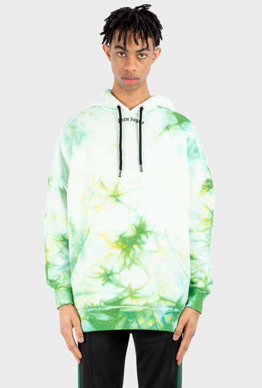 Hoodie Tie-Dye Print Green
