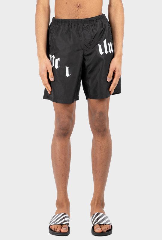 Broken Logo Swim Shorts Black