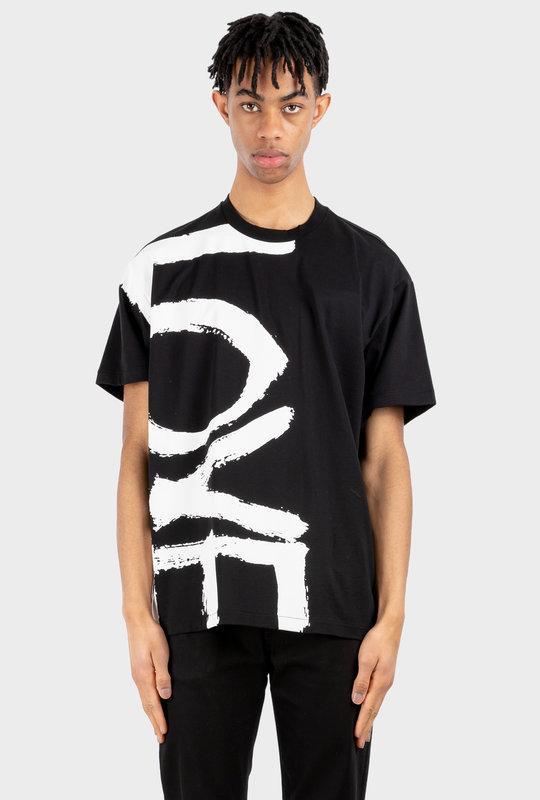 Love Print Oversized T-shirt Black