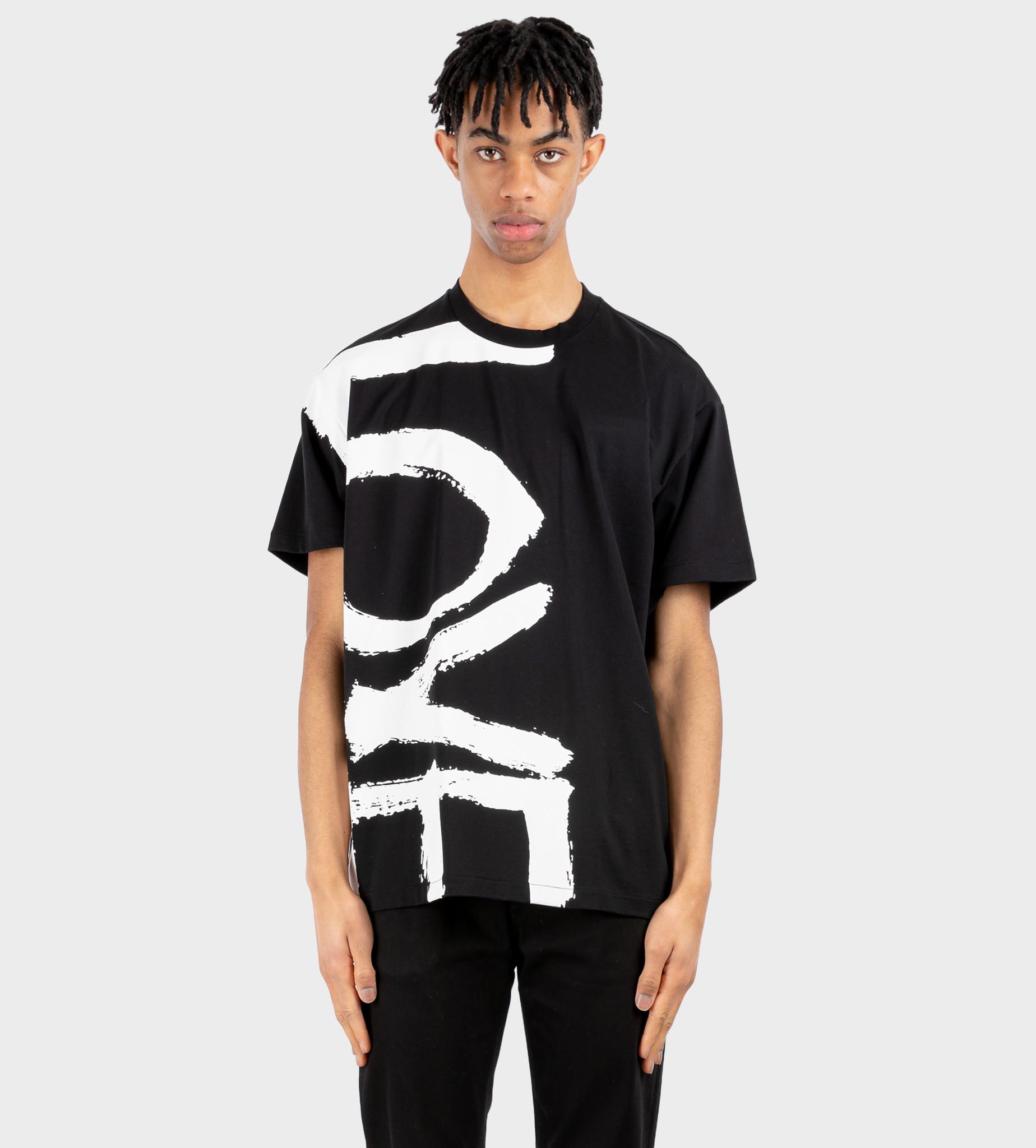 BURBERRY Love Print Oversized T-shirt Black