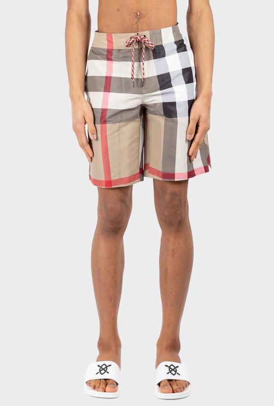 Check Swim Shorts Beige