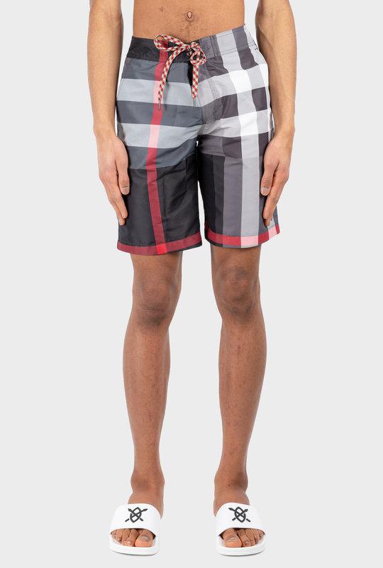 Check Swim Shorts Black