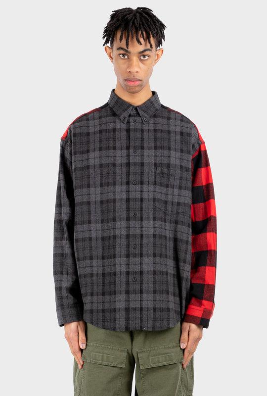 Patchwork Shirt Black Red