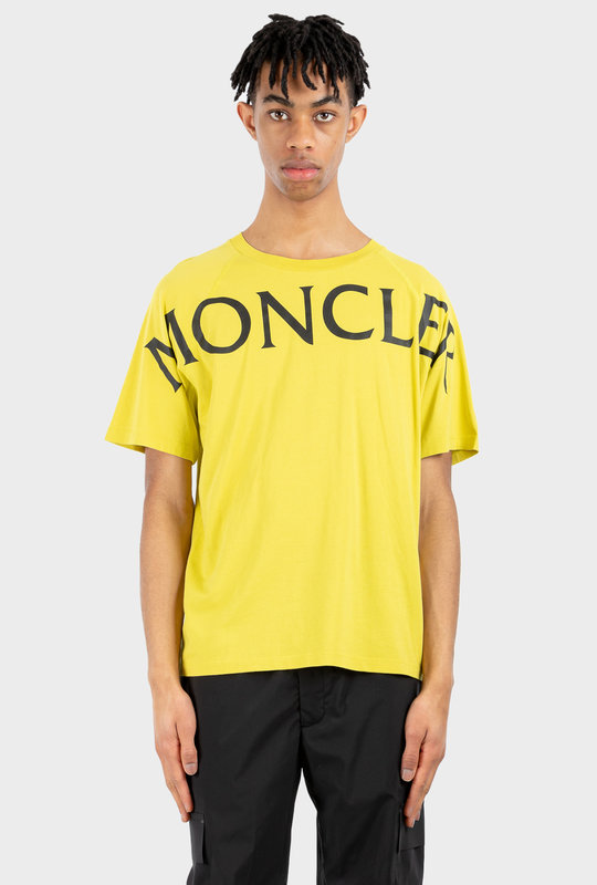 Oversize Logo Print T-shirt Yellow