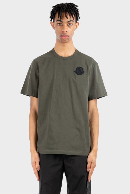 Logo Patch T-Shirt in Khaki