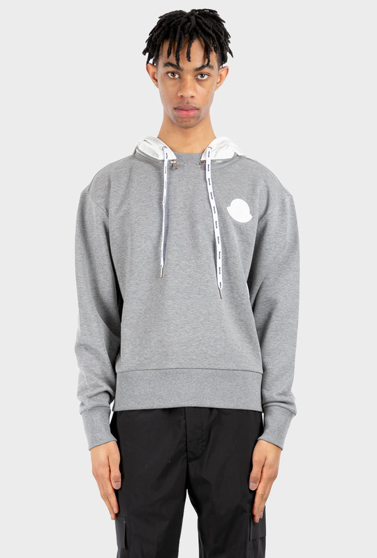 Logo Patch Hoodie Grey