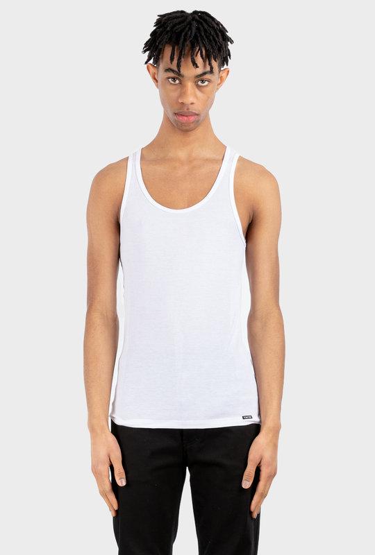 Modal Rib Tank Top White