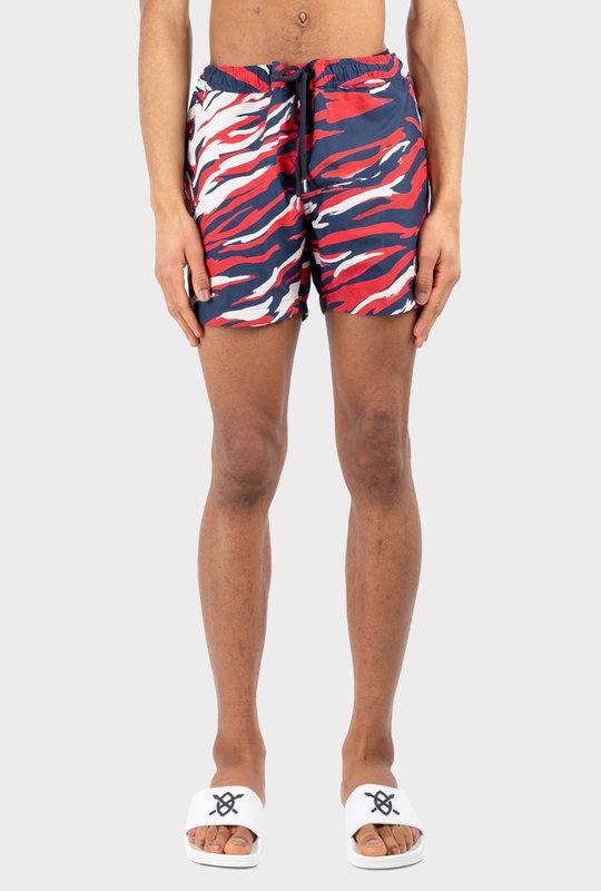 Striped Swim Short Blue