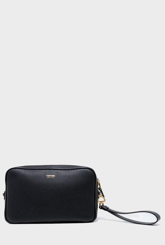 Logo Print Wash Bag Black