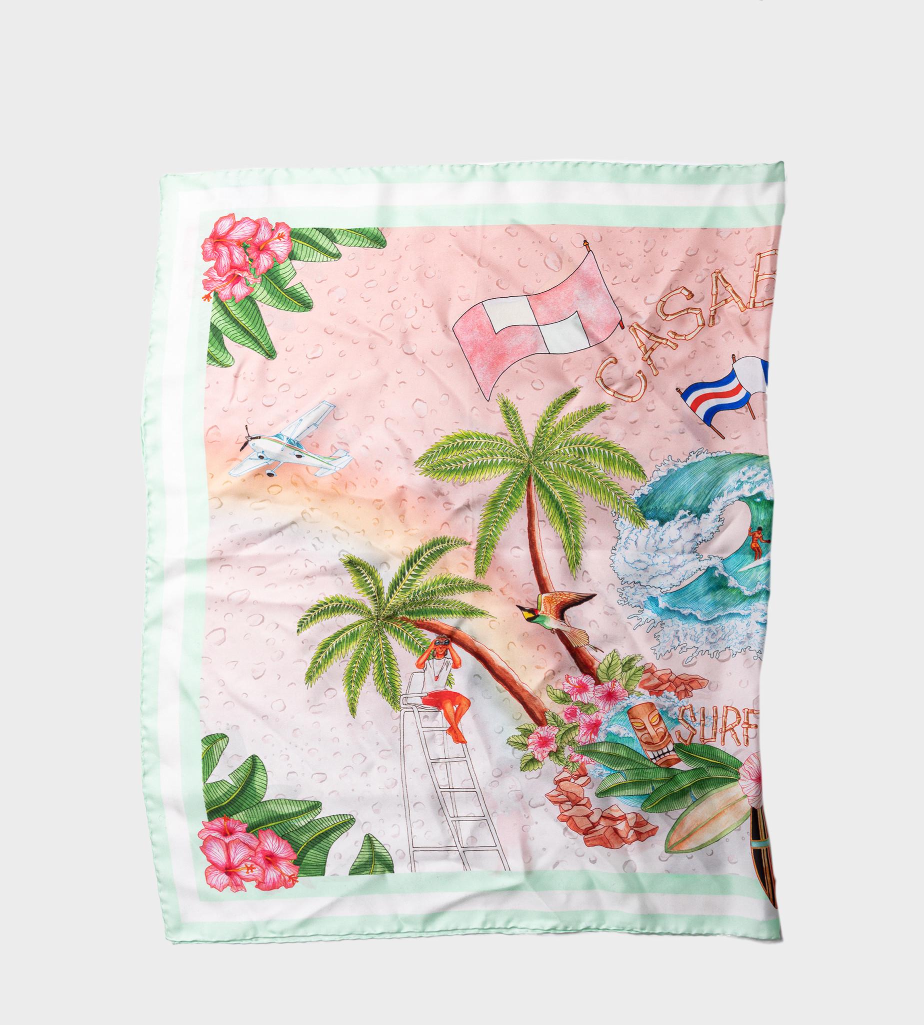 CASABLANCA Surf Club Print Scarf Pink